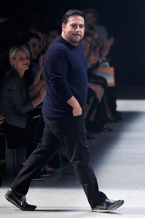 Designer Narciso Rodriguez walks the runway at the Narciso Rodriguez fashion show during Mercedes-Benz Fashion Week Spring 2014 at Sir Stage37 on September 10, 2013 in New York City.