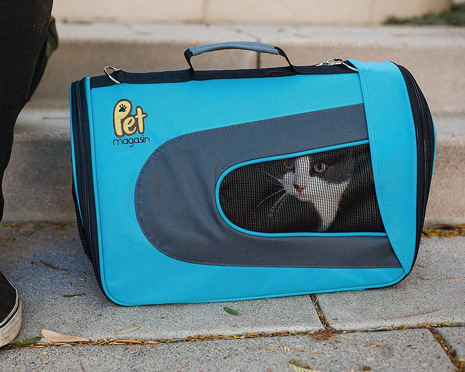 0fdcbd51ff Pet Magasin Luxury Soft-Sided Cat Carrier