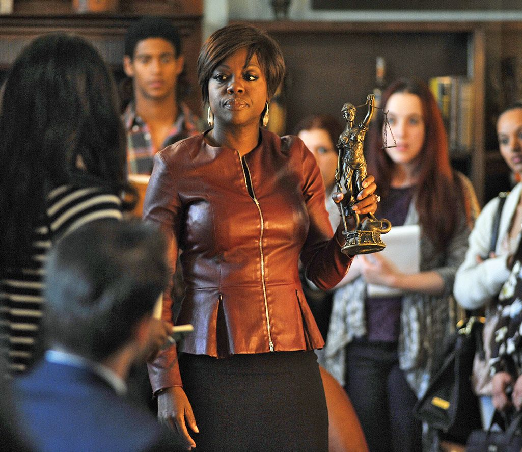 HOW TO GET AWAY WITH MURDER - Annalise Keating (Academy-Award Nominee Viola Davis) is everything you hope your Criminal Law professor will be - brilliant, passionate, creative and charismatic. She's also everything you don't expect - sexy, glamorous, unpredictable and dangerous. As fearless in the courtroom as she is in the classroom, Annalise is a defense attorney who represents the most hardened, violent criminals - people who've committed everything from fraud to arson to murder - and she'll do almost anything to win their freedom. Each year, Annalise selects a group of the smartest, most promising students to come work at her law firm. Working for Annalise is the opportunity of a lifetime, one that can change the course of our students' lives forever, which is exactly what happens when they find themselves involved in a murder plot that will rock the entire university. (ABC/Nicole Rivelli)VIOLA DAVIS