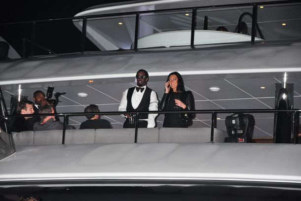 P Diddy invites celebrities and friends for a party on a yacht in Cannes. Paris Hilton, Nicky Hilton, Kim Kardashian, Michelle Rodriguez, Tara Reid, Benito Del Toro and more were seen aboard. <P> Pictured: P Diddy <P> <B>Ref: SPL396596  220512  </B><BR/> Picture by: Splash News<BR/> </P><P> <B>Splash News and Pictures</B><BR/> Los Angeles:	310-821-2666<BR/> New York:	212-619-2666<BR/> London:	870-934-2666<BR/> photodesk@splashnews.com<BR/> </P>