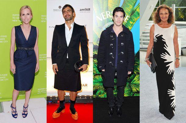 From left: Designers Tory Burch, Marc Jacobs, Joseph Altuzarra, and Diane Von Furstenberg.