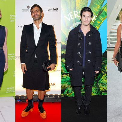 From left: Designers Tory Burch, Marc Jacobs, Joseph Altuzarra, and Diane Von Furstenberg.