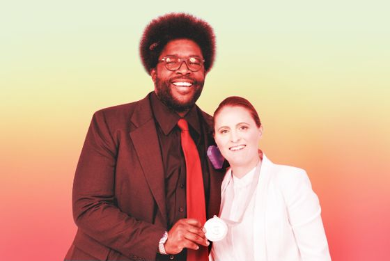 Questlove, with April Bloomfield, at this year's James Beard Foundation Awards.
