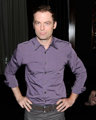 Justin Kirk at the Cinema Society after party for