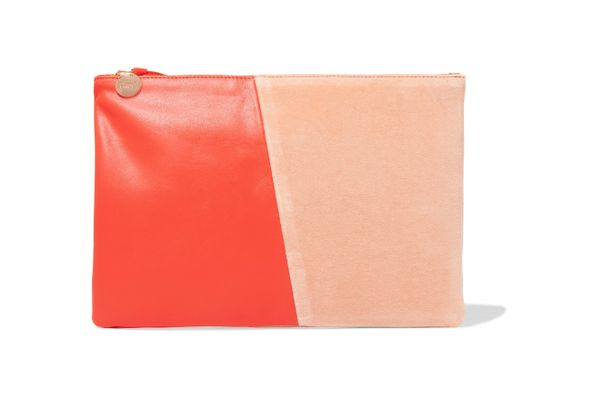 Clare V. Two-Tone Clutch