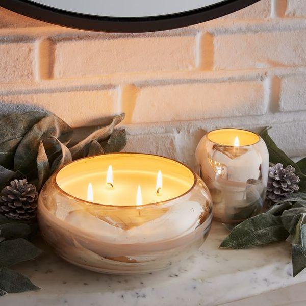 Marbled Mercury Candles - Cashmere & Tonka - Set of 2