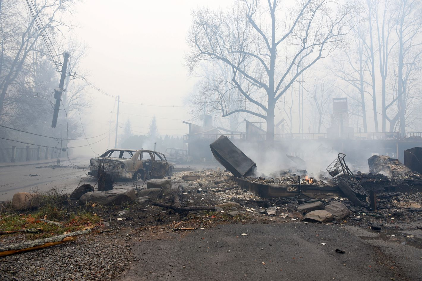 Tennessee Wildfires Rip Through Towns Near Smoky Mountains
