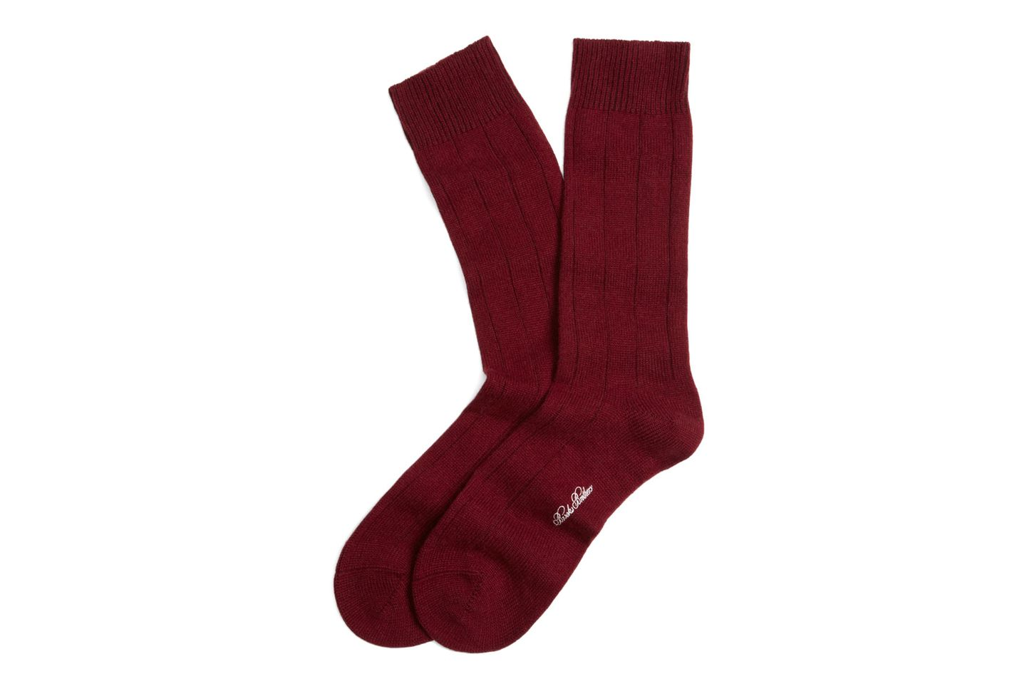 Brooks Brothers Cashmere Solid Crew Socks