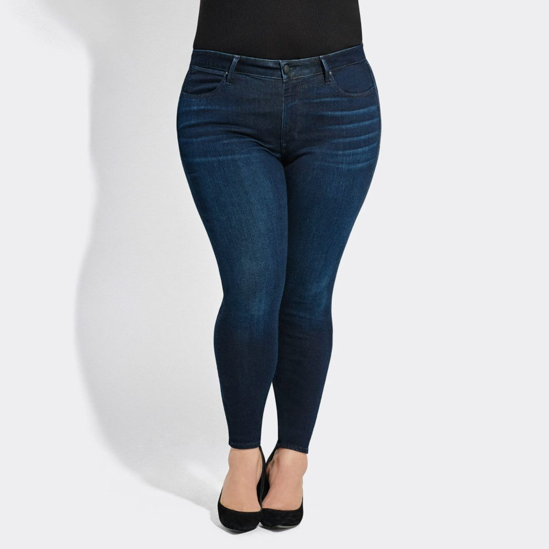 **SALE** Women/'s Ladies High Waisted Skinny Fit Jeans Stretch Blue Denim Jegging