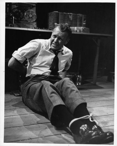 Ralph Bellamy in Man Against Crime.
