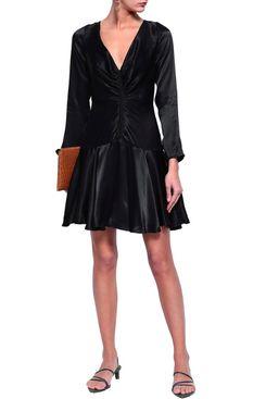 Zimmerman Cutout Ruched Crepe-Satin Mini Dress