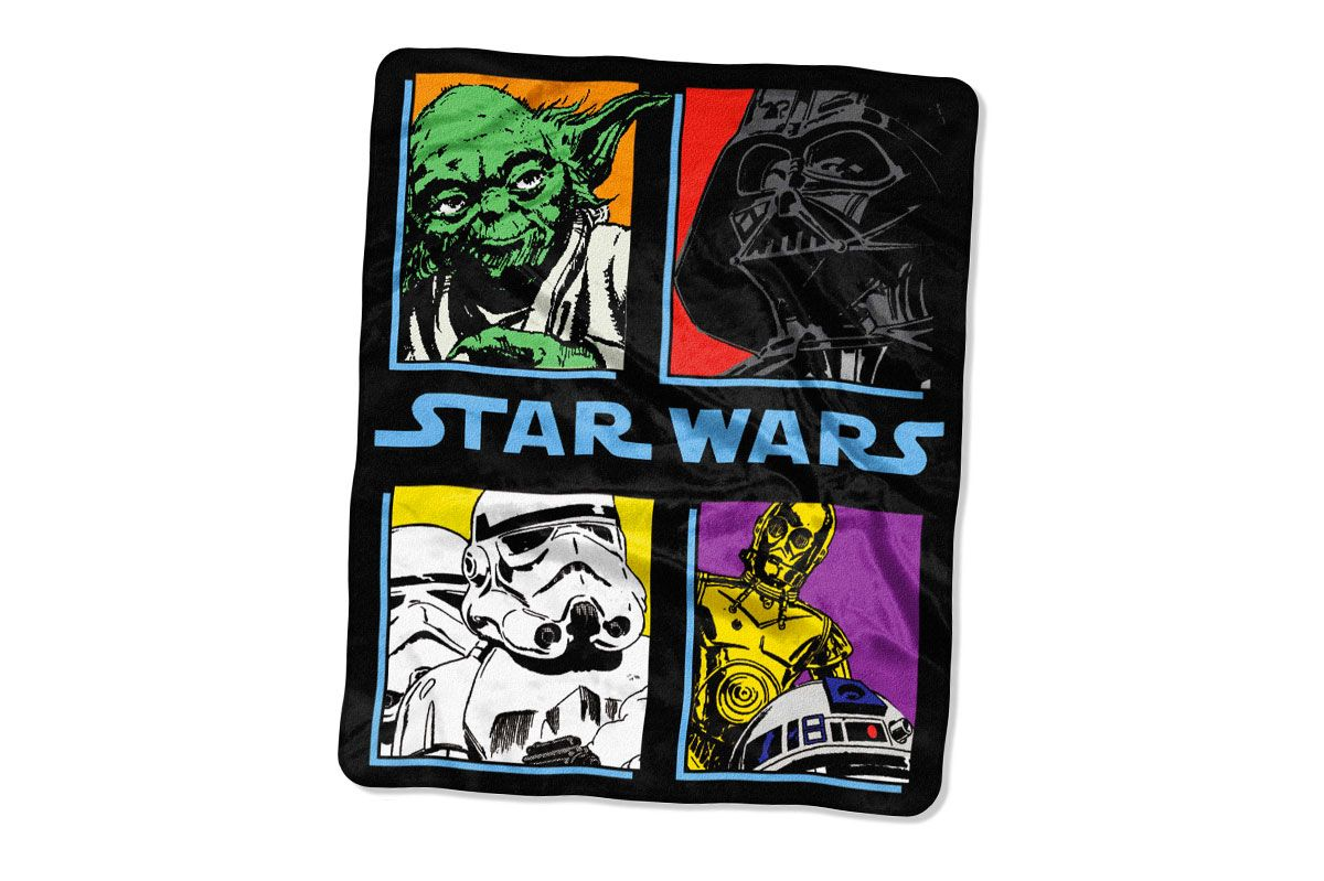 "Star Wars ""Pop Saga"" Classic Plush Raschel Throw Blanket"