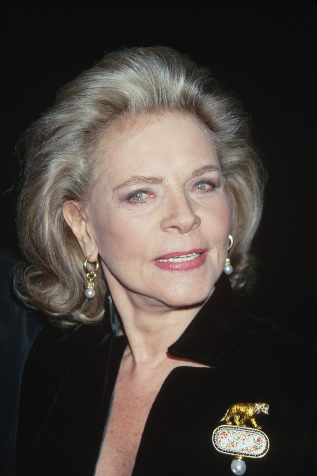 November 1996 --- Lauren Bacall attends the premiere of the motion picture The Mirror Has Two Faces at the Ziegfeld Theater in New York. --- Image by ? Mitchell Gerber/Corbis