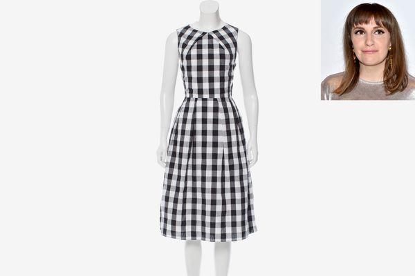 Rachel Antonoff Cutout Gingham Dress