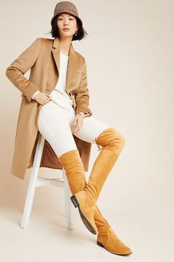 Silent D Leer Over-The-Knee Boots