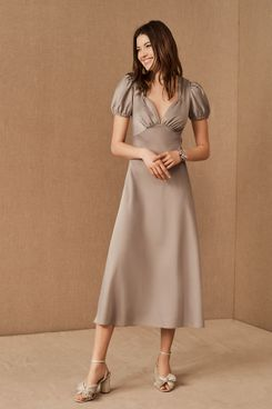 BHLDN Shelley Satin Midi Dress