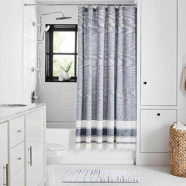 West Elm Organic Variegated Stripe Shower Curtain