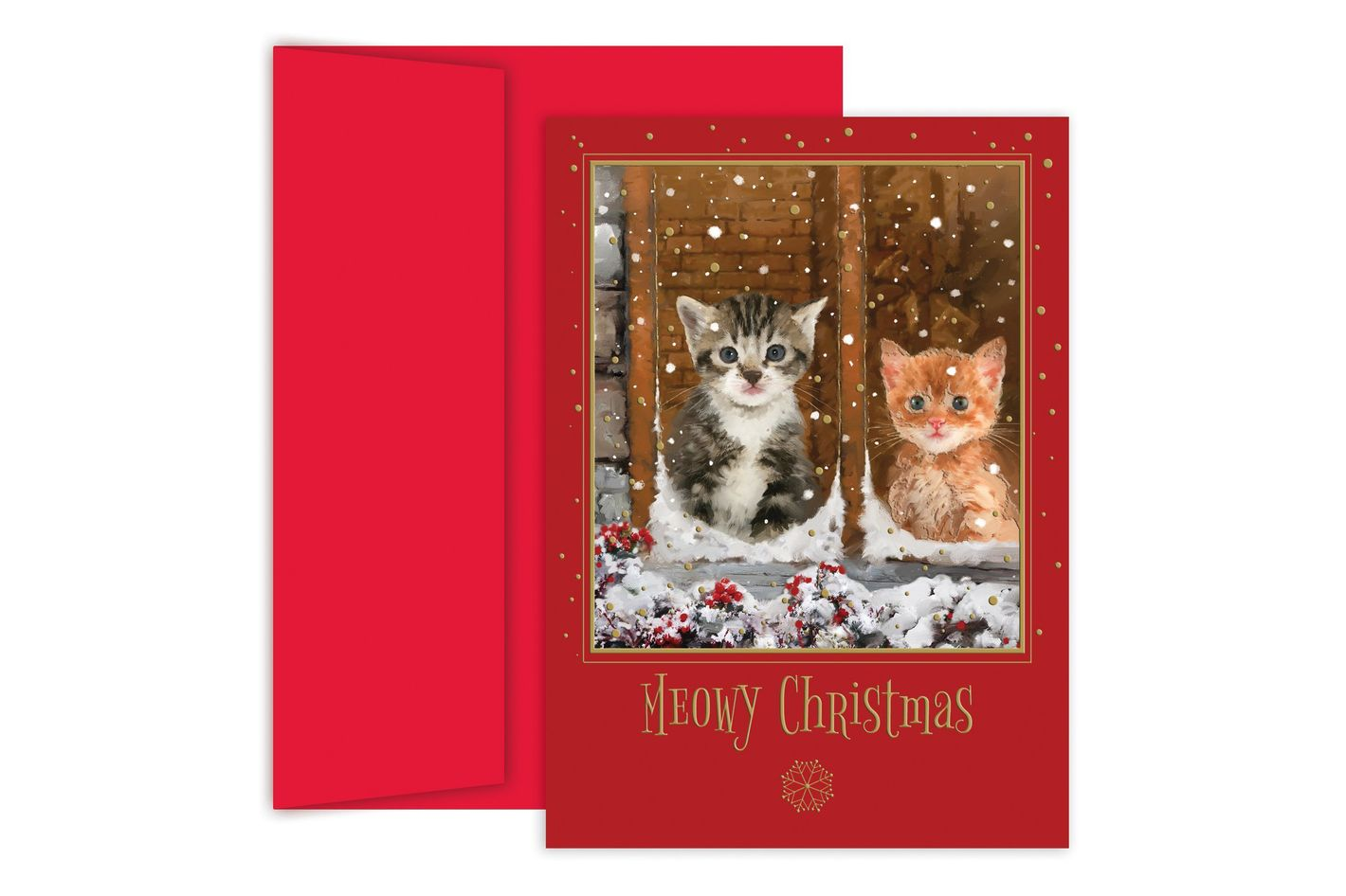 Masterpiece Studios Holiday Collection Boxed Cards, Meowy Christmas