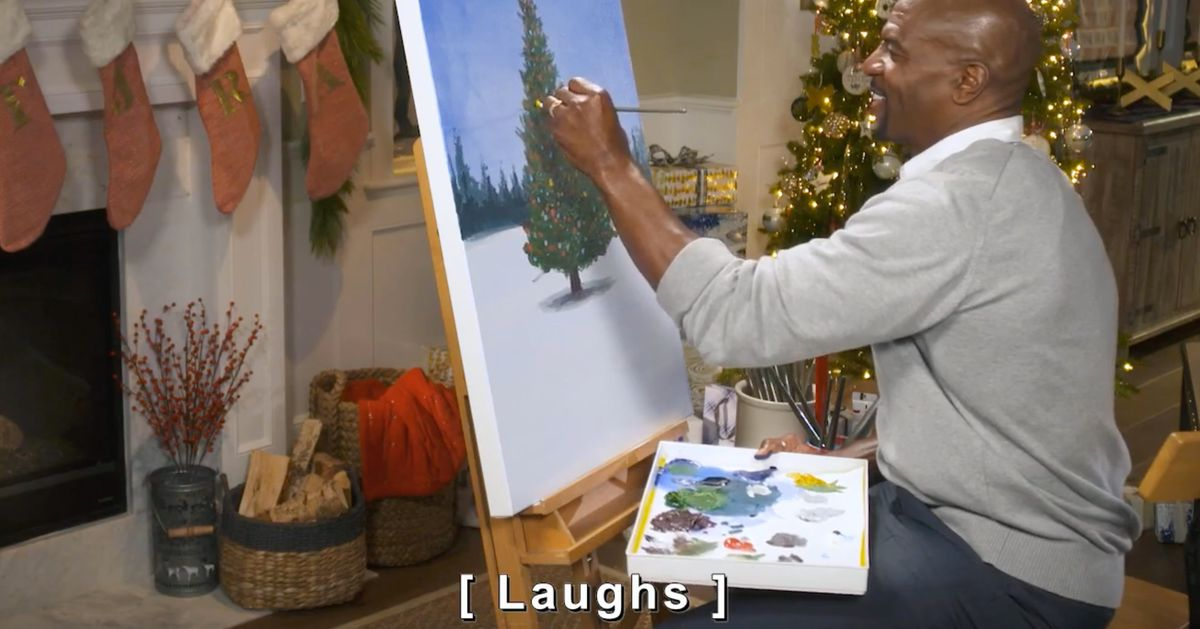 Throw That Yule Log Away and Join Terry Crews for a Cozy Christmas Painting Sesh