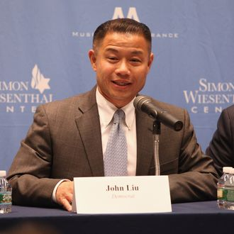 NEW YORK, NY - AUGUST 14: City comptroller John Liu attends The New York City Mayoral Forum on Cultural Sensitivity & Tolerance at the Museum of Tolerance on August 14, 2013 in New York City. (Photo by Taylor Hill/Getty Images)