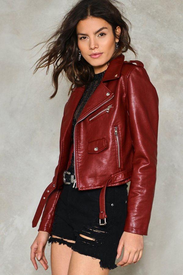Nasty Gal Vegan Leather Cropped Jacket