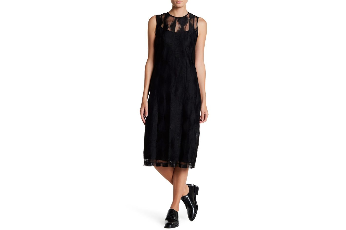 DKNY Mesh Sleeveless Dress