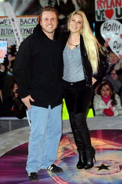 Spencer Pratt and Heidi Montag are evicted from the Celebrity Big Brother House at Elstree Studios on January 25, 2013 in Borehamwood, England.