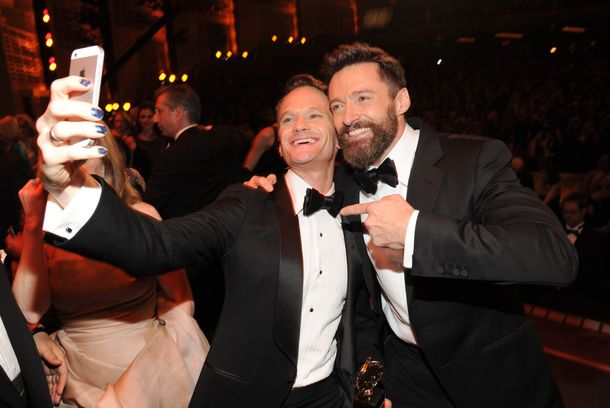 NEW YORK, NY - JUNE 08:  Neil Patrick Harris and Hugh Jackman attend the 68th Annual Tony Awards at Radio City Music Hall on June 8, 2014 in New York City.  (Photo by Kevin Mazur/Getty Images for Tony Awards Productions)
