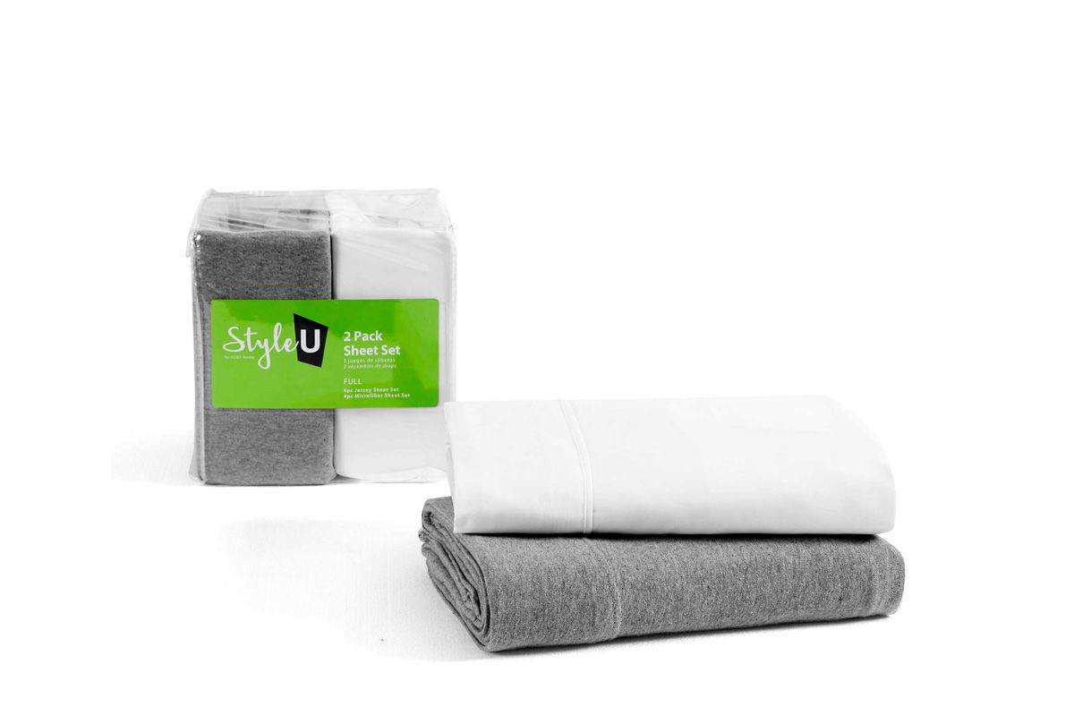 VCNY Home Style U 2-Pack Jersey Microfiber Sheet Set