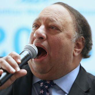 NEW YORK, NY - APRIL 09: New York City mayoral candidate John Catsimatidis speaks at a political forum hosted on a boat in Manhattan on April 9, 2013 in New York City. Six mayoral candidates spoke at the Metropolitan Waterfront Alliance's 2013 Waterfront Conference ahead of the November 2013 mayoral election. (Photo by Mario Tama/Getty Images)