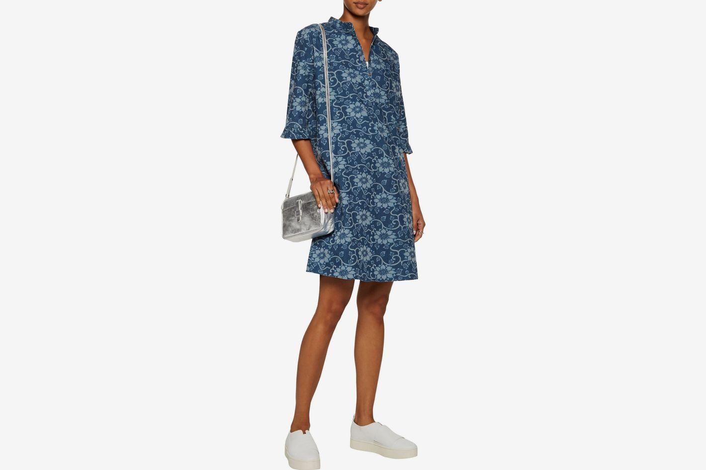 M.I.H Jeans Becca Cotton-Chambray Shirt Dress