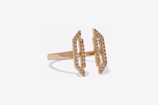 Astrid & Miyu 14-Karat Gold-Plated Ring