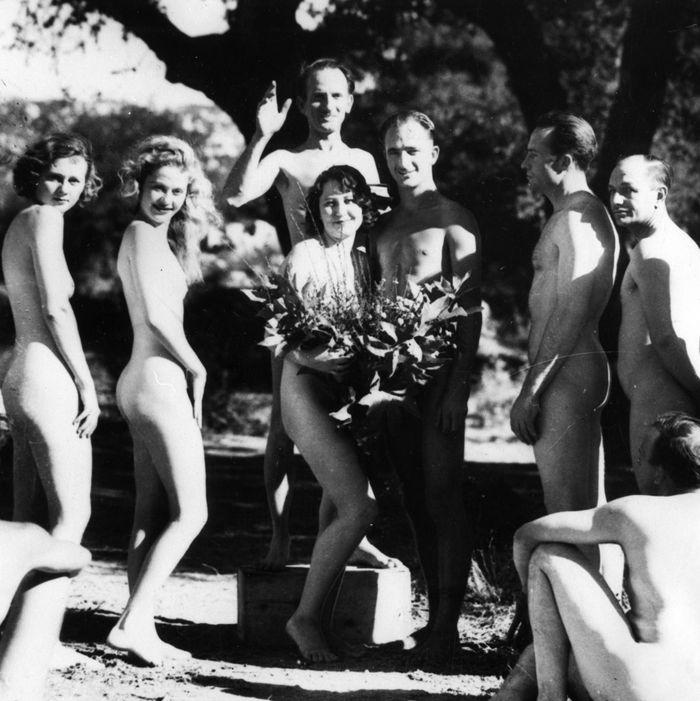 A nudist wedding.