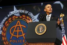 Obama speaks at IACP Conference