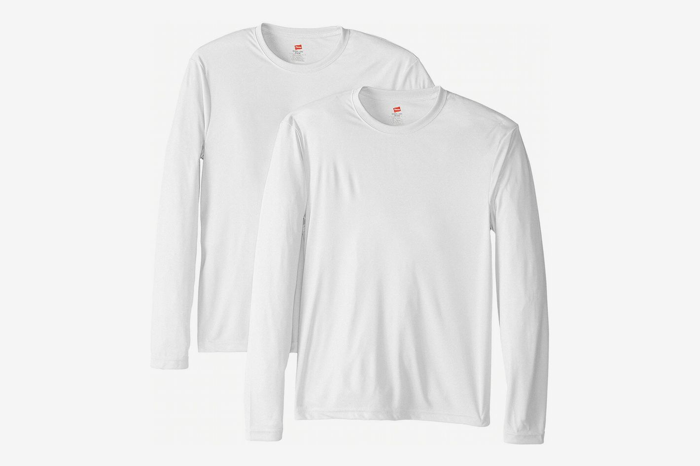 4b185ea3abe2f Hanes Men s Long Sleeve Cool Dri T-Shirt UPF 50+