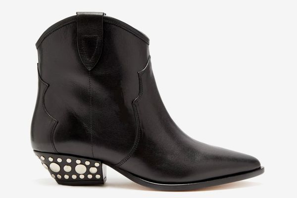 Isabel Marant Dawyna Western Leather Ankle Boot