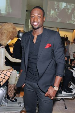 NEW YORK, NY - SEPTEMBER 08:  NBA player Dwyane Wade attends Prada Fashion's Night Out at Prada 5th Avenue on September 8, 2011 in New York City.  (Photo by Slaven Vlasic/Getty Images for Prada)