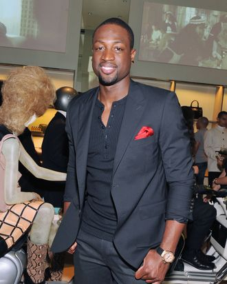 Dwyane Wade at Prada's Fashion's Night Out event.