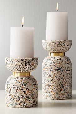 CB2 Terrazzo Pillar Candle Holder