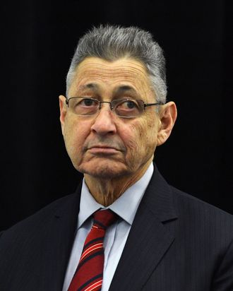 NEW YORK, NY - APRIL 09: New York Assembly speaker, Sheldon Silver attends Century 21 Department Store Expansion Ribbing Cutting Ceremony at Century 21 on April 9, 2013 in New York City. (Photo by Slaven Vlasic/Getty Images)