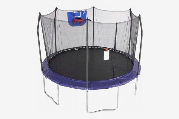 Skywalker Trampolines 12-Foot Jump N' Dunk Trampoline with Enclosure Net