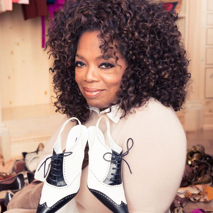 Hello, I'm Oprah. I would lend you these shoes.