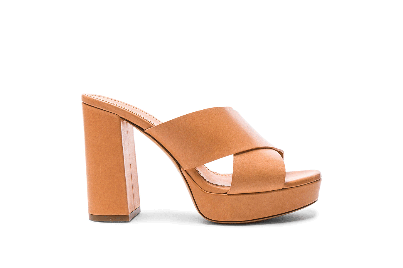 Mansur Gavriel Leather 100mm x Strap Heels