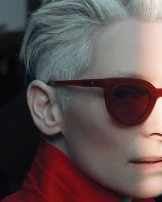b59f113120 Candy-Red Sunglasses Make Every Outfit More Interesting. By Diana Tsui.  Tilda Swinton for Gentle Monster ...