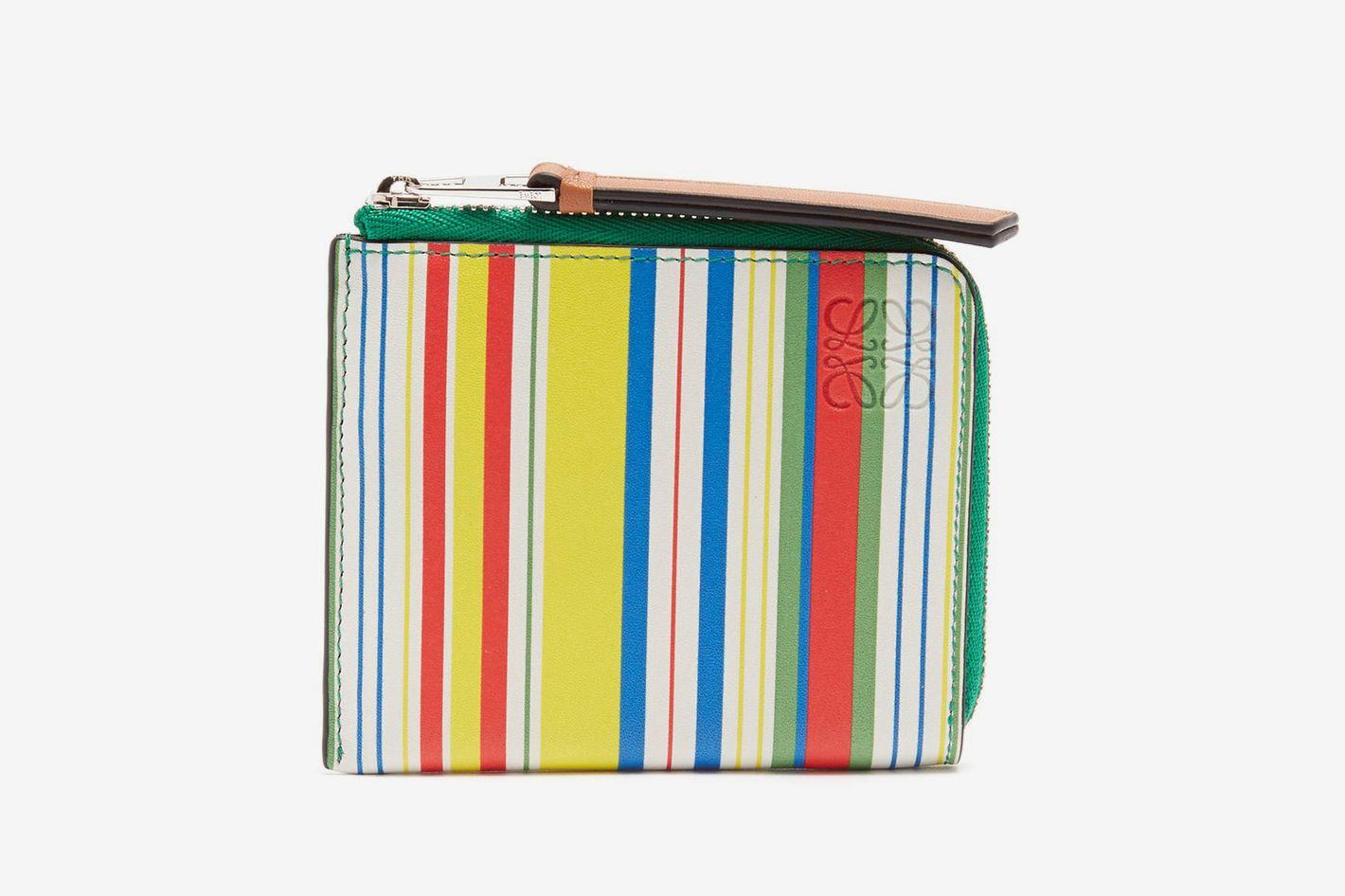 Loewe Multicoloured Zip-Around Leather Wallet