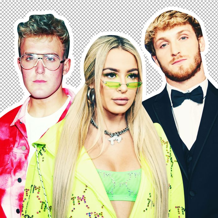 Logan Paul, Tana Mongeau, Jake Paul.