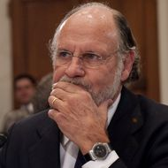 "Jon Corzine, former CEO of MF Global, testifies before the House Agriculture Committee about the bankruptcy of MF Global on Capitol Hill in Washington, DC, December 8, 2011.  In prepared testimony, Corzine -- once US senator, the governor of New Jersey, the head of Goldman Sachs and later MF Global -- apologized to investors and claims he cannot account for the loss of ""many hundreds of millions of dollars."" ""I simply do not know where the money is, or why the accounts have not been reconciled to date,"" he said in the remarks.  Around $1.2 billion appears to be missing from the customer accounts of failed US broker, a liquidator of the company has said.    AFP PHOTO / Saul LOEB (Photo credit should read SAUL LOEB/AFP/Getty Images)"