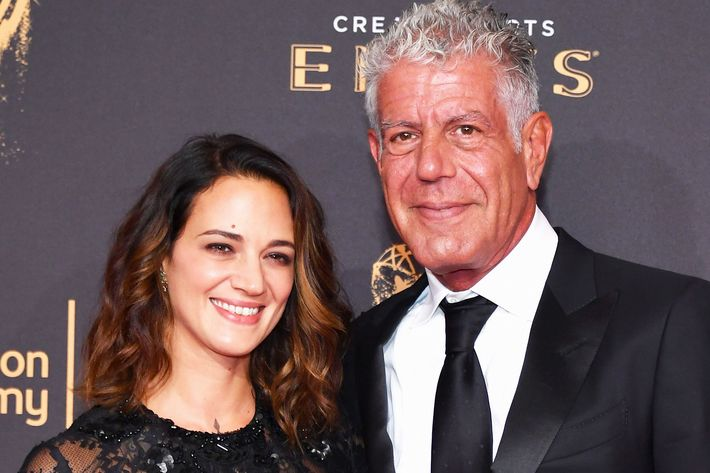 Asia Argento and Anthony Bourdain.