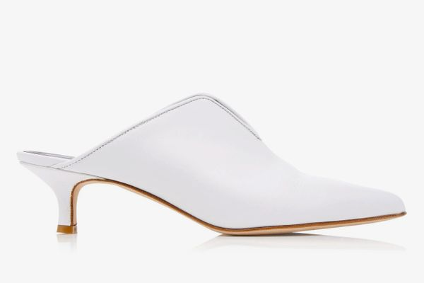 Tibi Dana Leather Mules