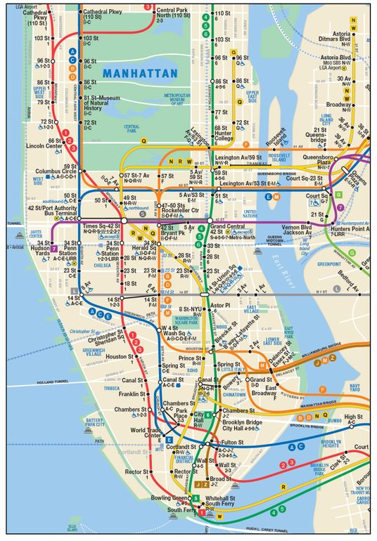 Subway Map E Train